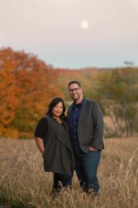 Woman and man standing together; Katrina and Andrew MacDonald